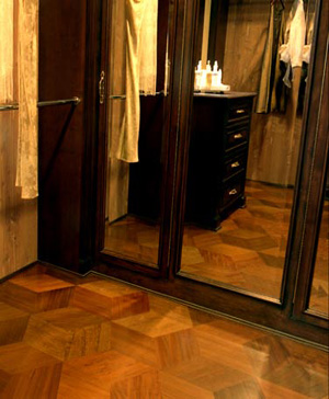 Wood Flooring In Walnut Pattern